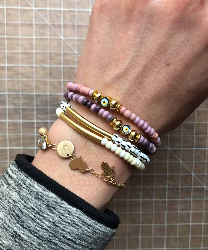 Women S Charm Tassel Amp Beaded Stacking Bracelets April