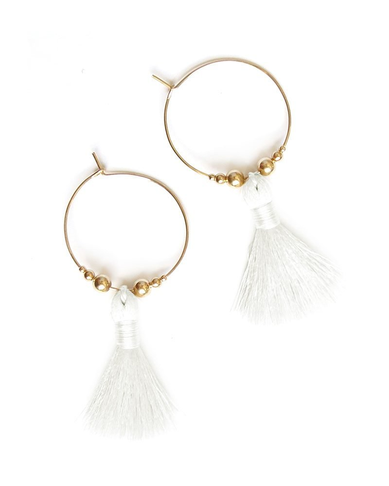 Featherweight Tassel Hoops gold white 1 copy