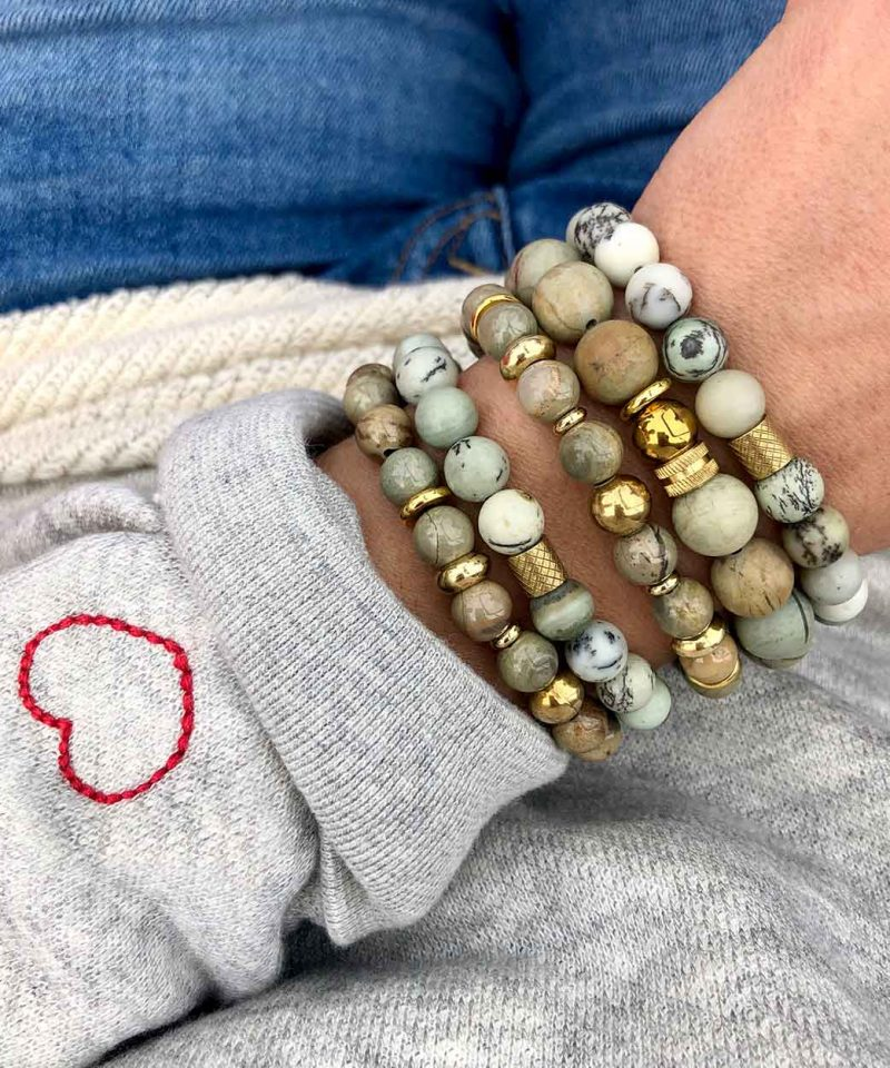2019 Fall Arm Party Stack Sage Dendrite Moss Silver Leaf spiritual junkie heart on sleeve