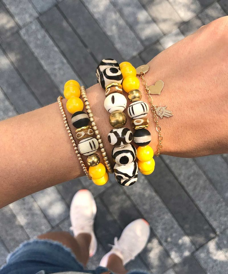 2019 Fall Arm Party Stack Zulu Mandarin and Evil Eye Mini Bead To Mom With Love