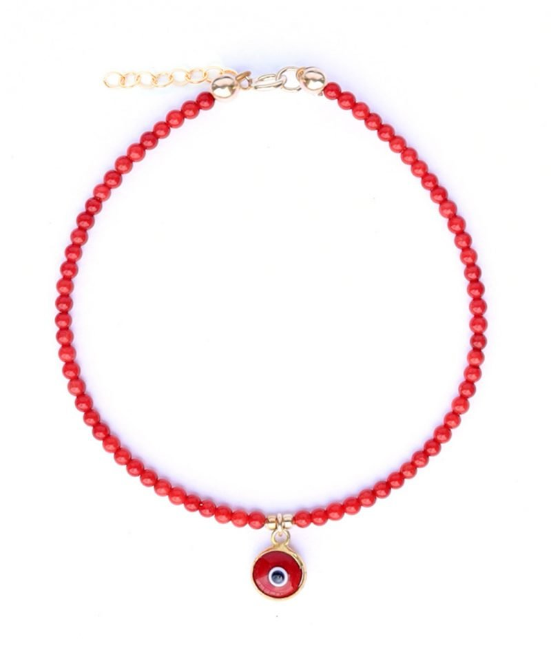 Gemma Bracelet – Red Coral Evil Eye