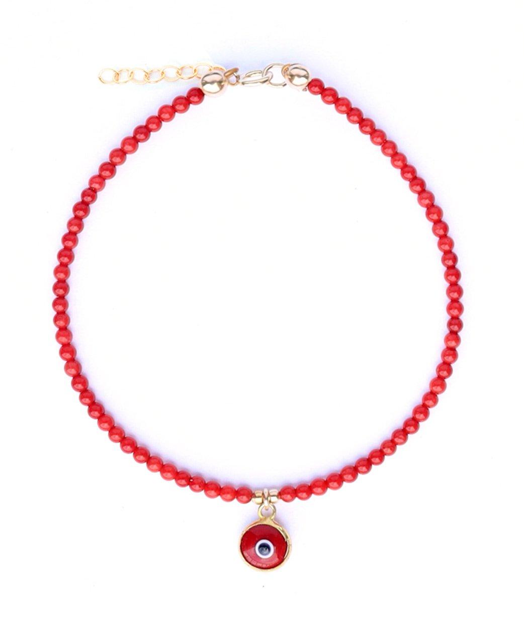 B Gemma Bracelet Red Coral Evil Eye 1