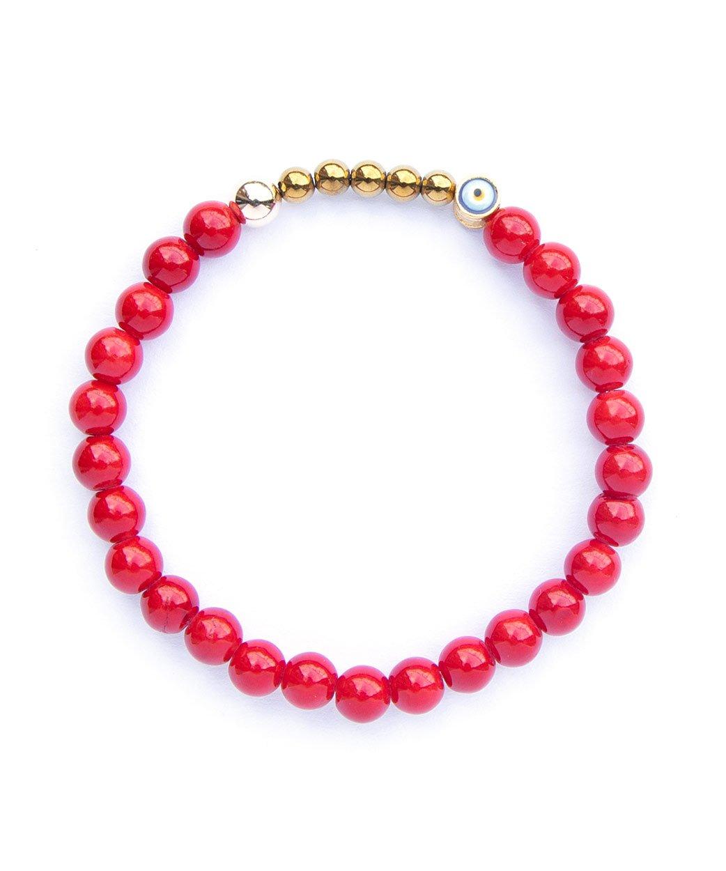 B Ojo Bracelet Red Jade 1