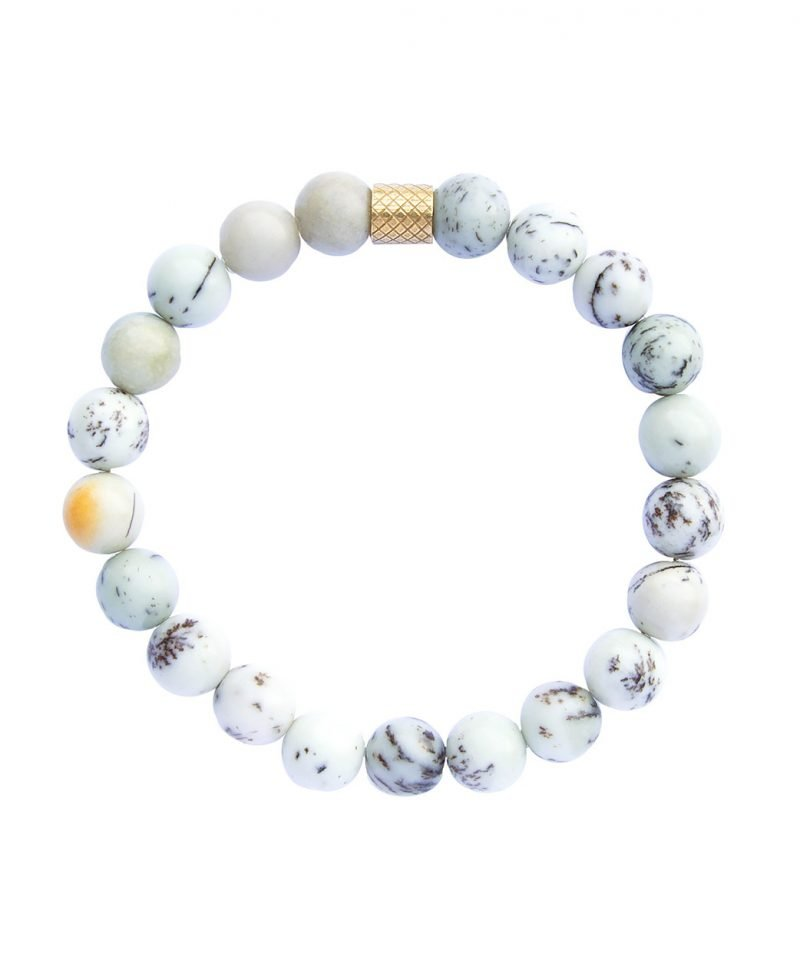 Ridge Bracelet – Sage Dendritic Jasper 8mm