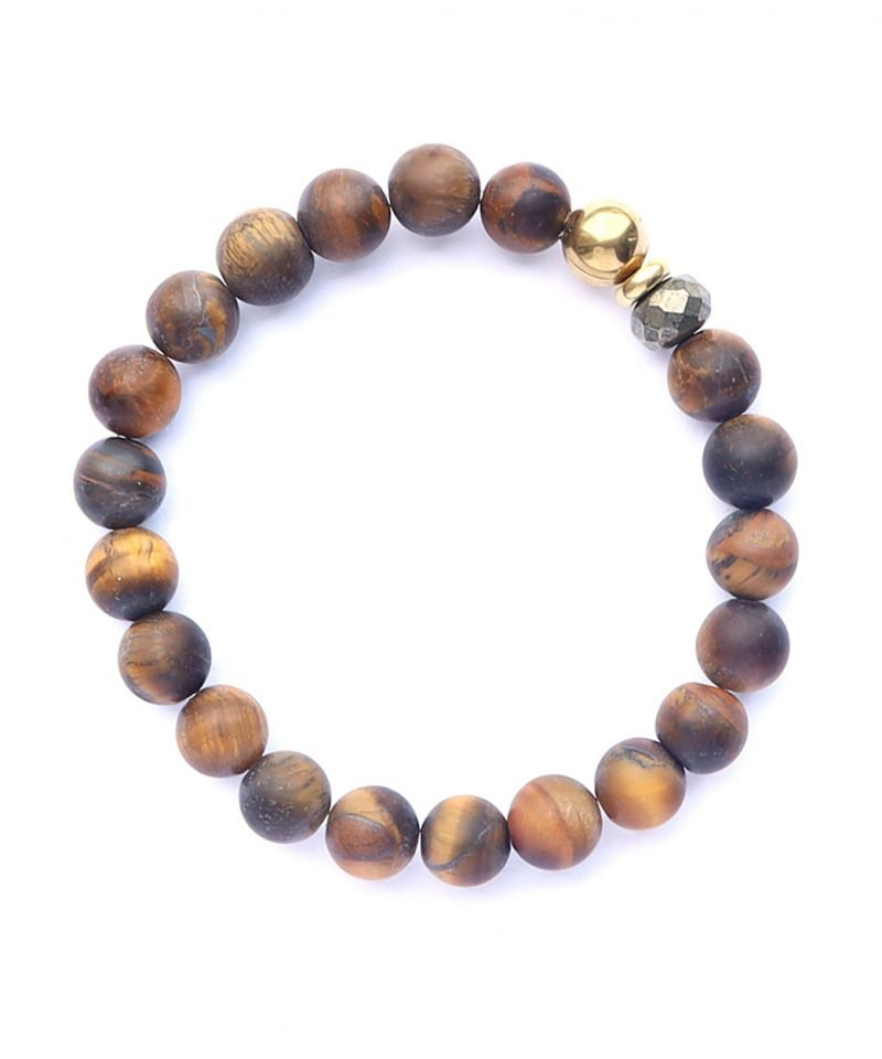 B Tiger Eye Bracelet Matte 8mm