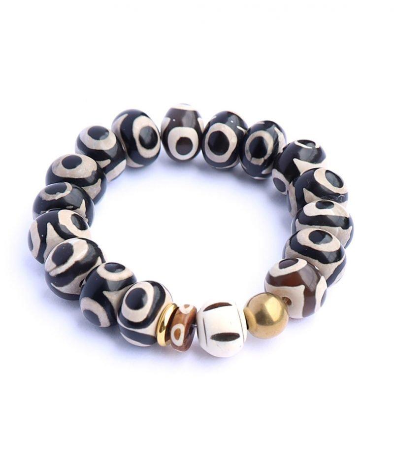 B Zulu Evil Eye Bone Bracelet 14mm 2