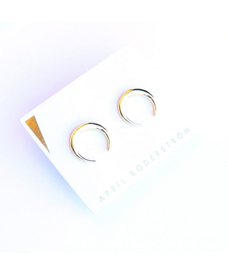 E Horn Studs Large Gold 1