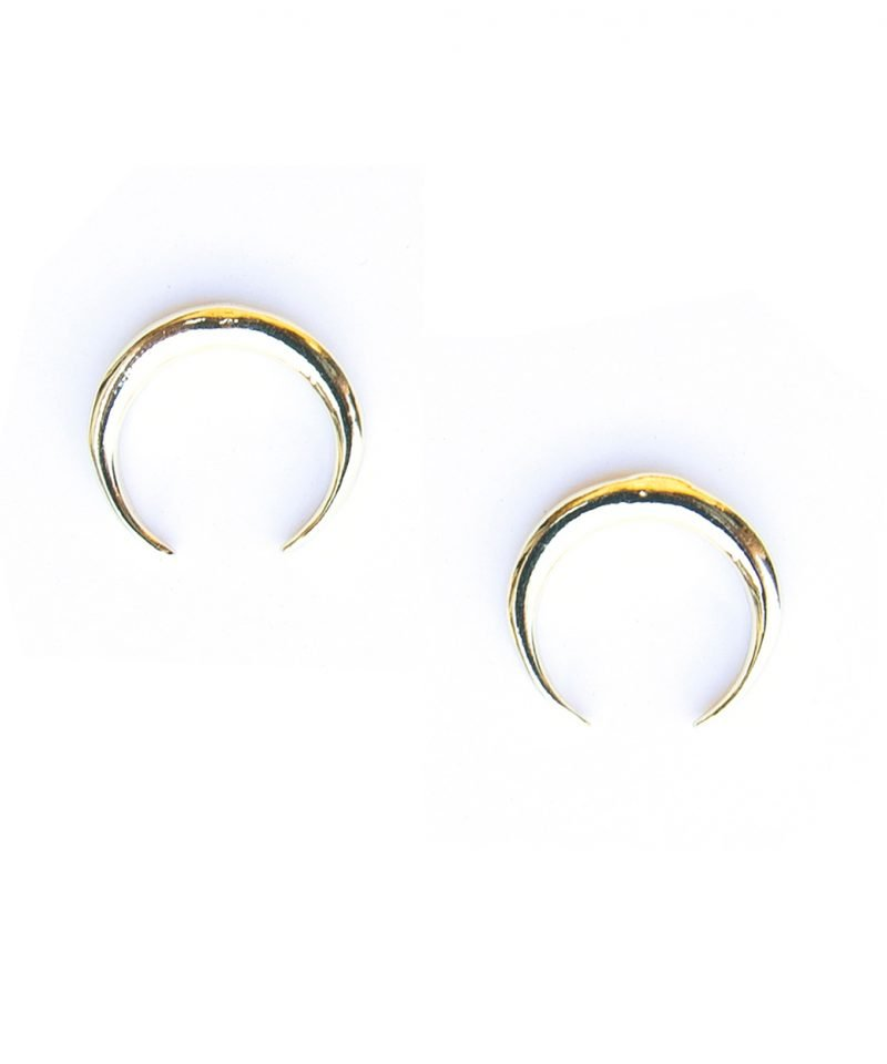E Horn Studs Large Gold 3