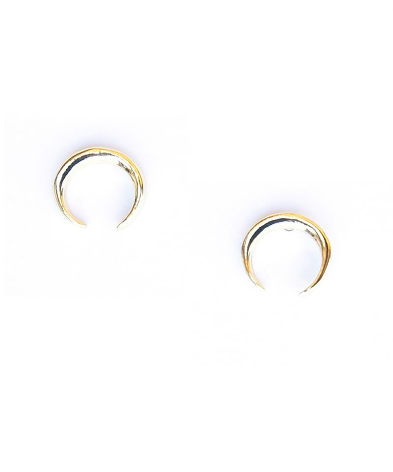 Horn Earrings – Small Gold