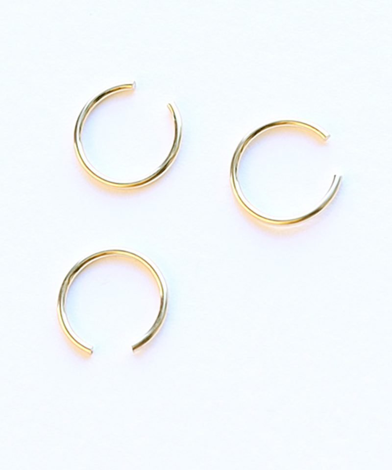 Featherweight Ear Cuff – Small Gold – Set of 3