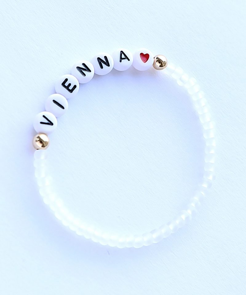 Name Game Bracelet – Color Crush Frosted Clear