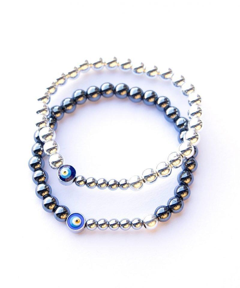 Ojo Bracelet – Gunmetal Hematite 6mm