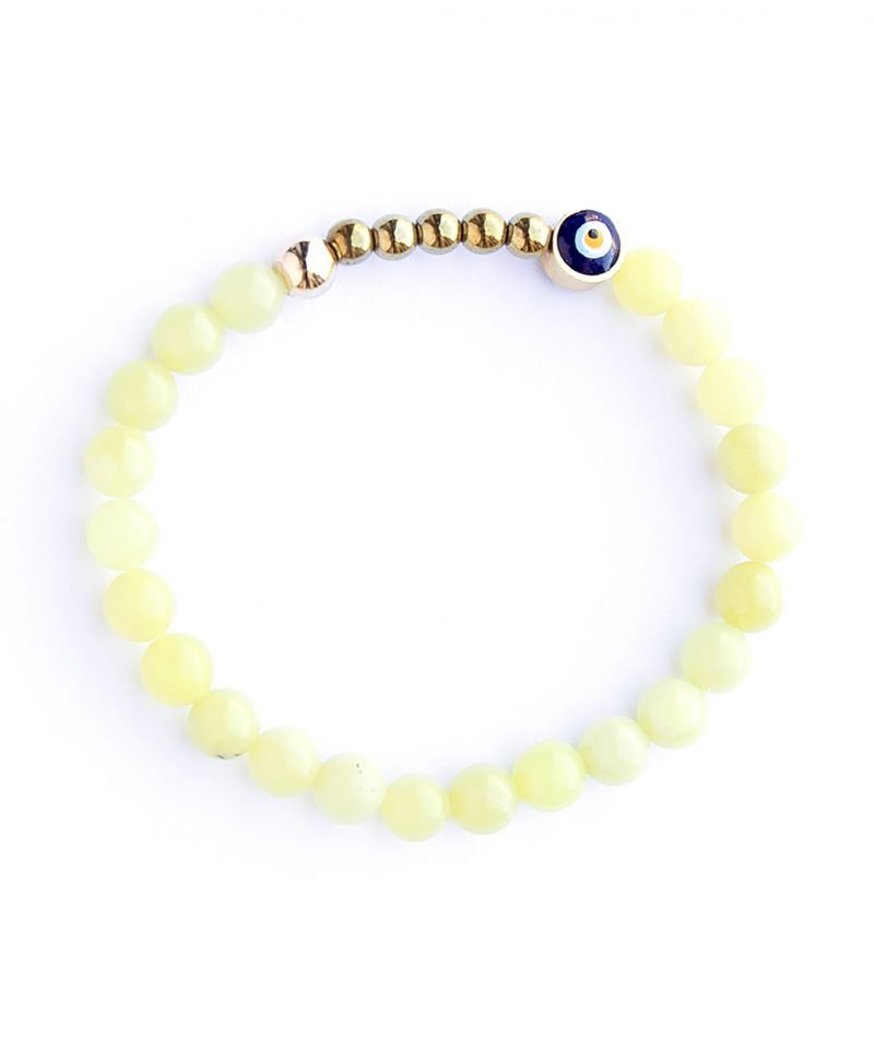 Ojo Bracelet – Lemon Jade 6mm