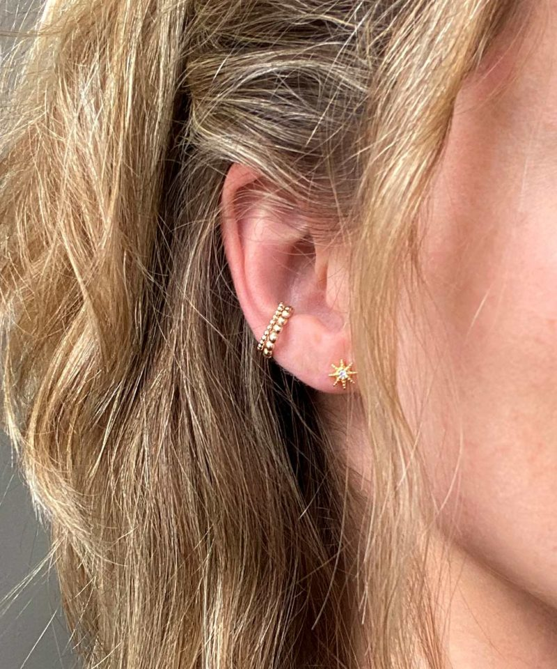 Featherweight Beaded Ear Cuff Set