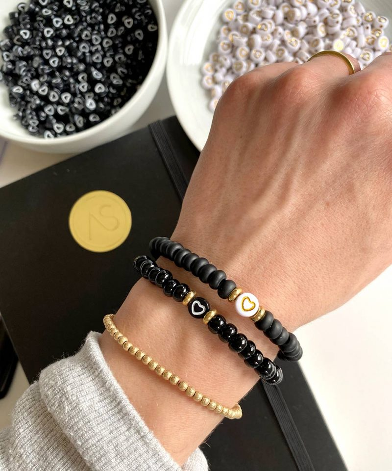Check Your Heart Bracelet – Polished Black