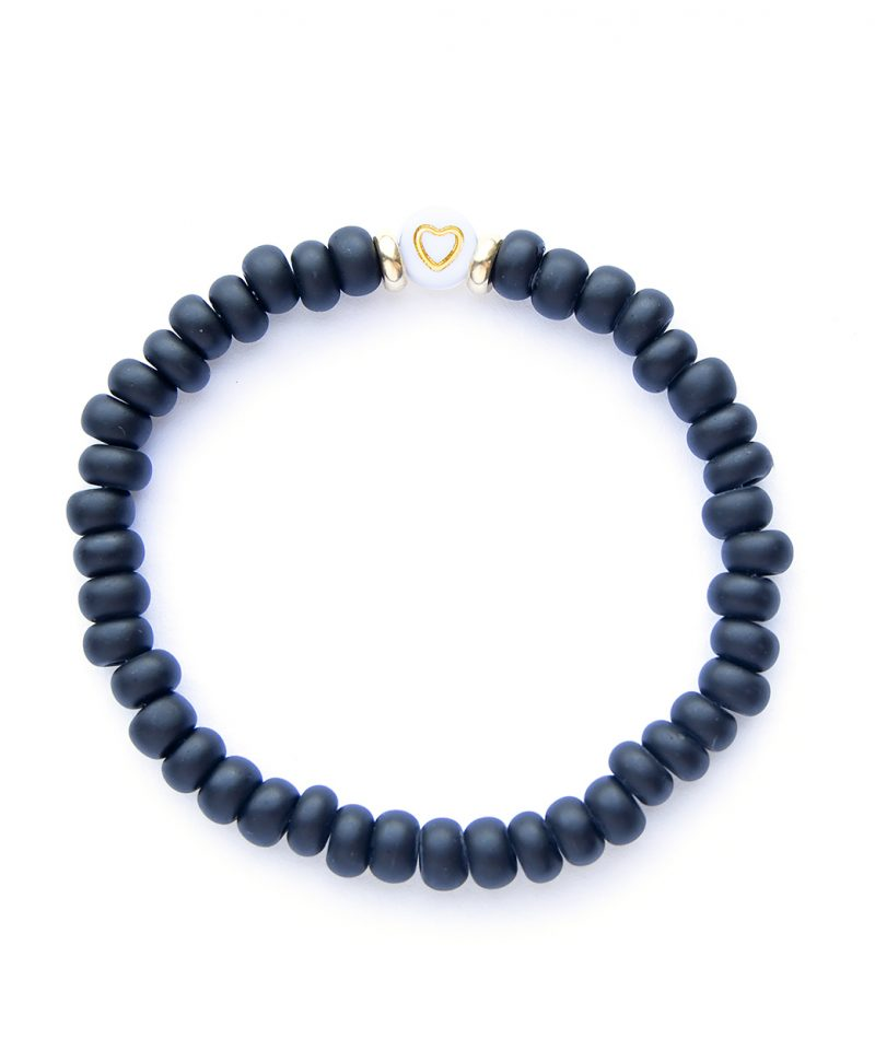 Check Your Heart Bracelet – Matte Black