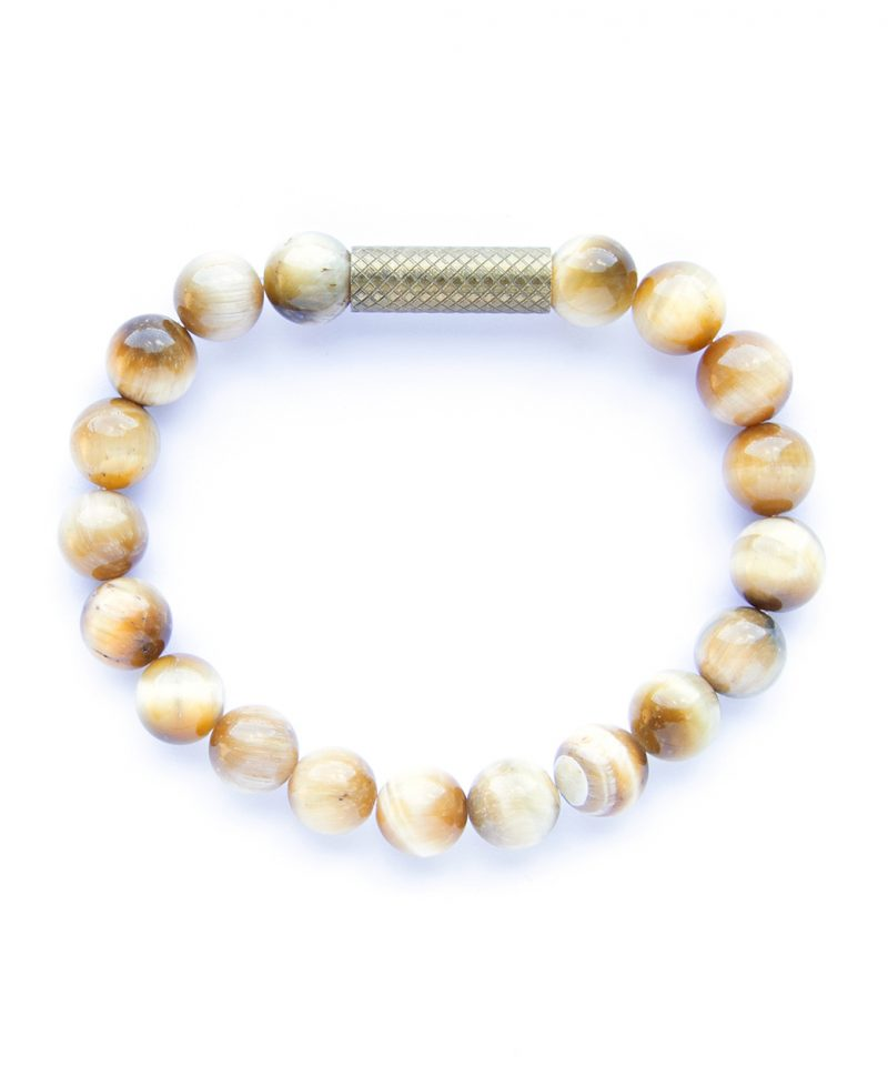 Ridge Bracelet – Honey Tiger Eye 8mm