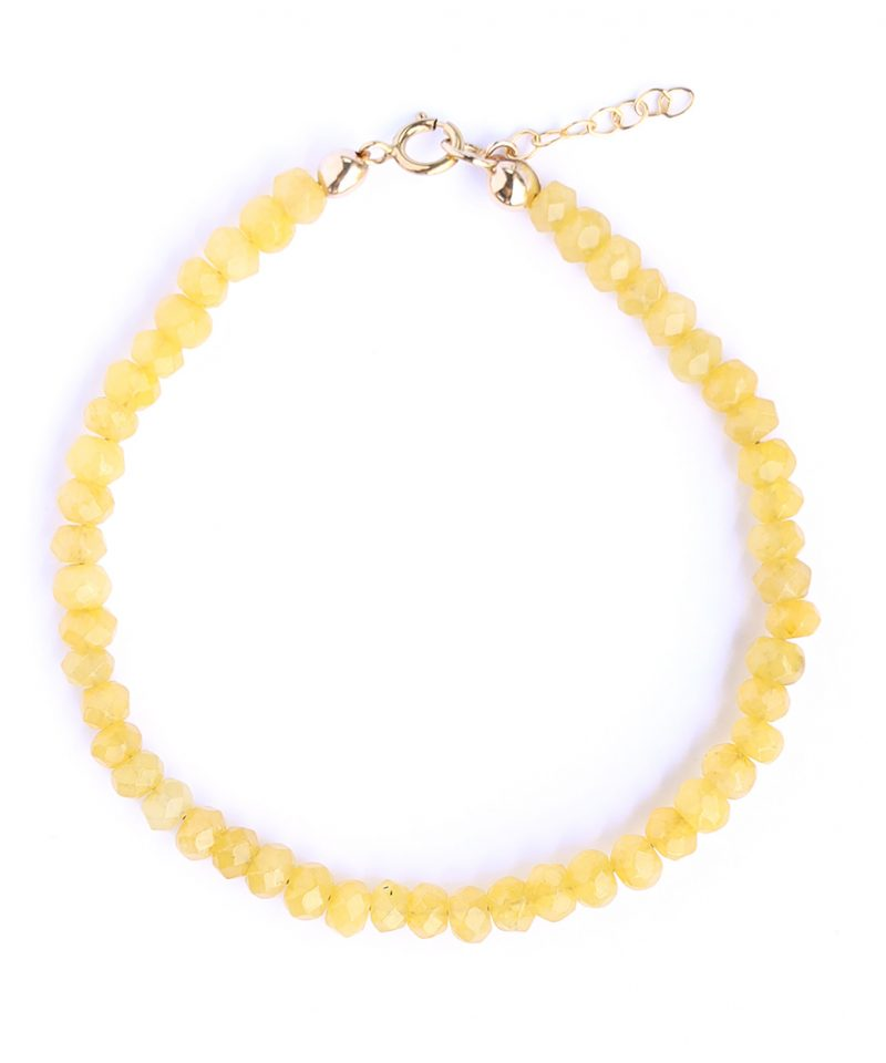 Gemma Bracelet – Yellow Jade