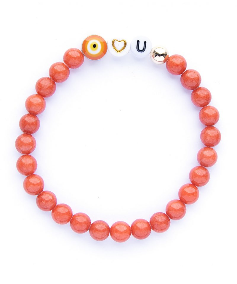 Eye Heart You Bracelet – Sunset Orange