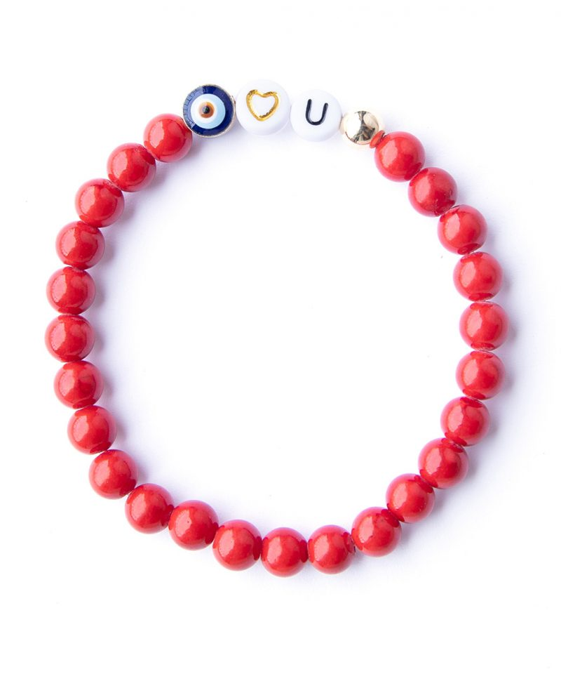 Eye Heart You Bracelet – Scarlet Red