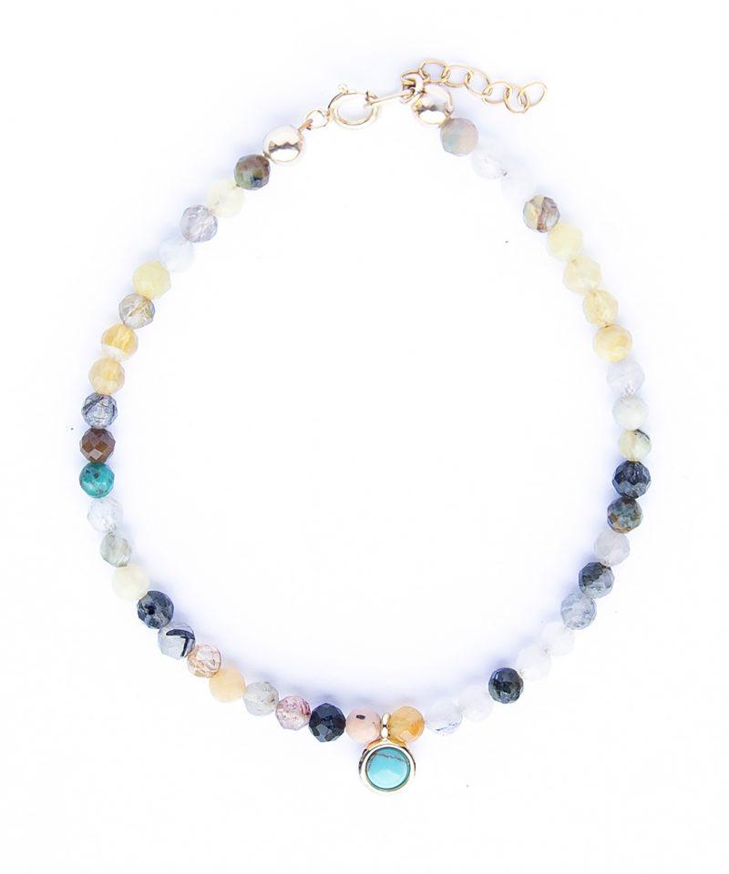 Gemma Bracelet – Ultra Multi & Turquoise Drop