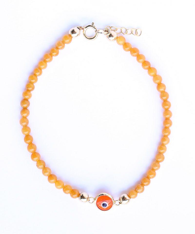 Gemma Bracelet – Orange Evil Eye