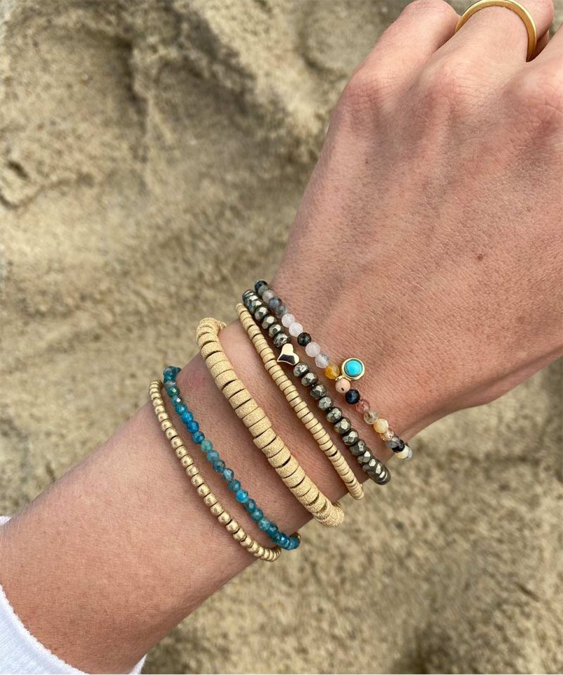 Stardust Rondelle Bracelet – 5mm 14k gold fill