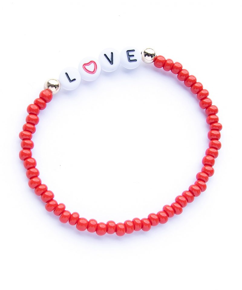 Name Game Bracelet – Color Crush Red