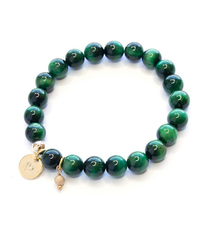 Stardust Emerald Monogram Bracelet – 8mm