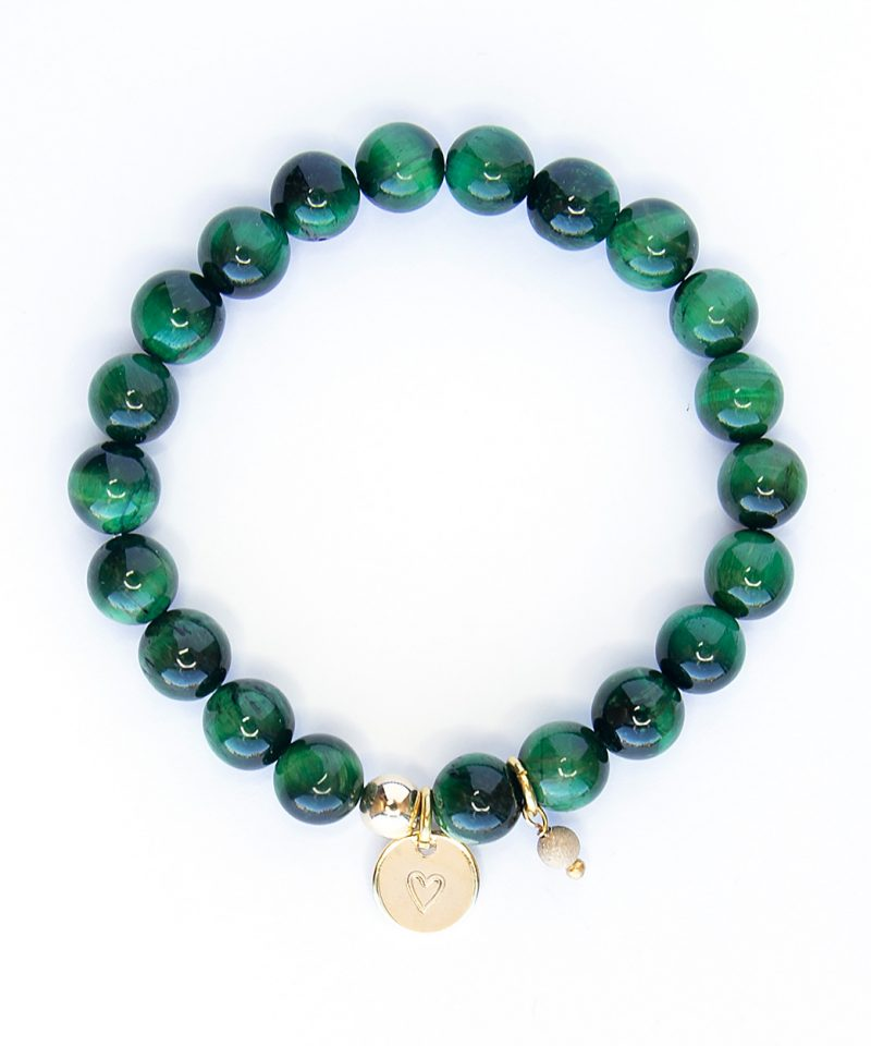 Stardust Emerald Monogram Bracelet – 8mm