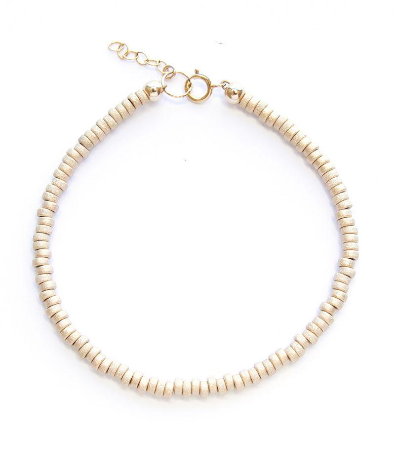 Stardust Rondelle Bracelet – 3mm 14k gold fill