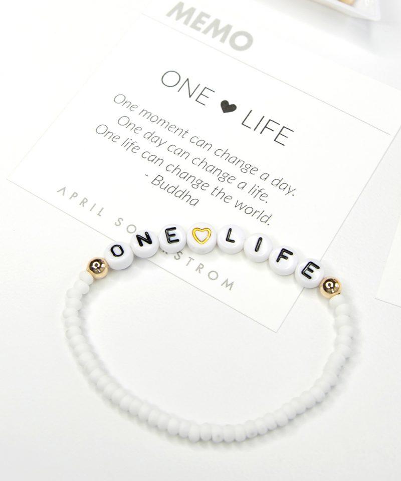 MEMO Bracelet – One Life