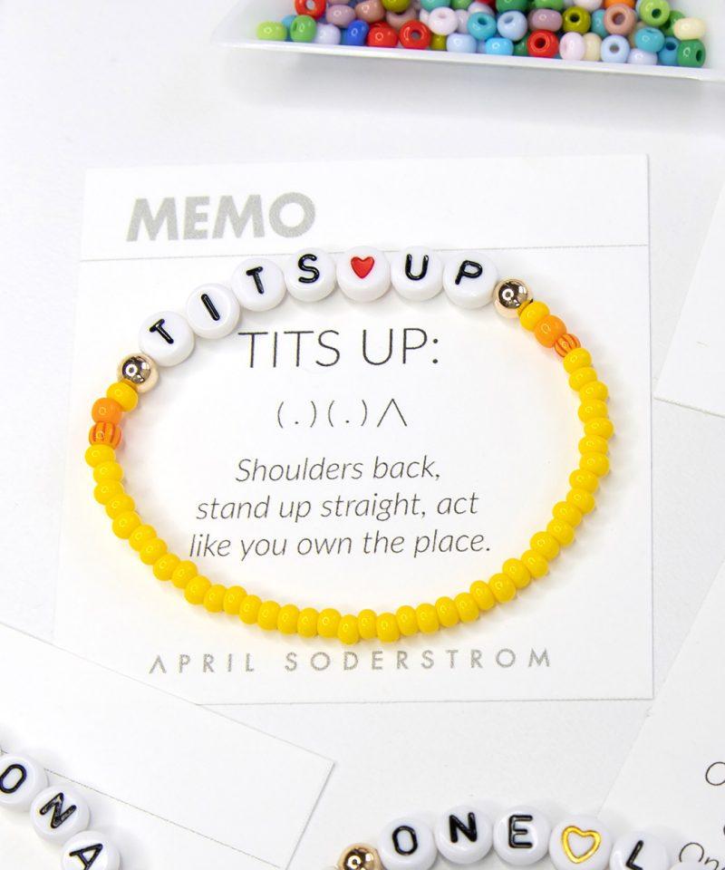 MEMO Bracelet – Tits Up