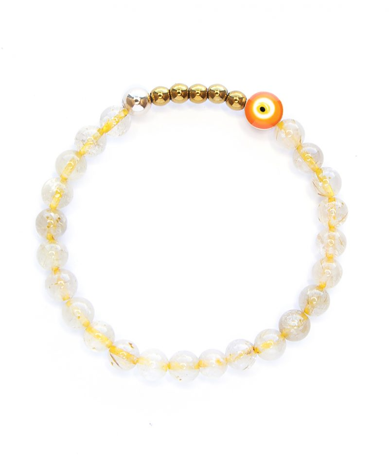 Ojo Bracelet – Gold Rutile Quartz 6mm