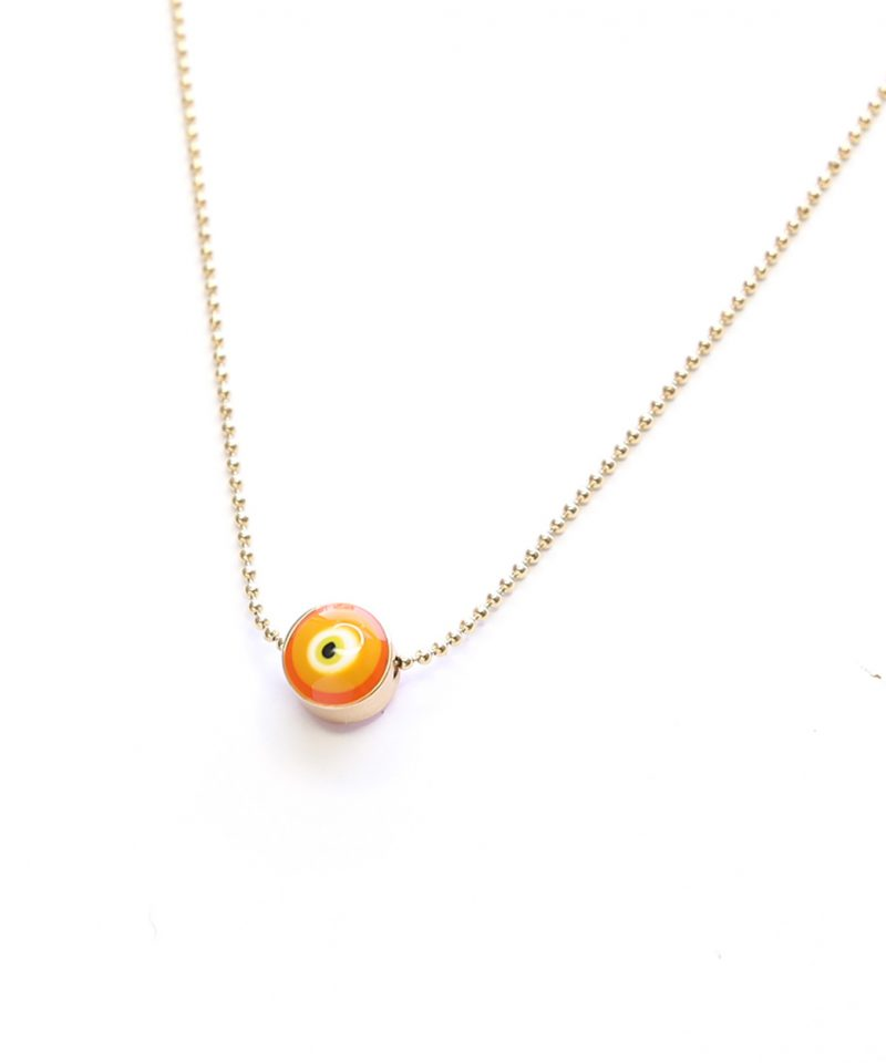 Evil Eye Necklace – Orange