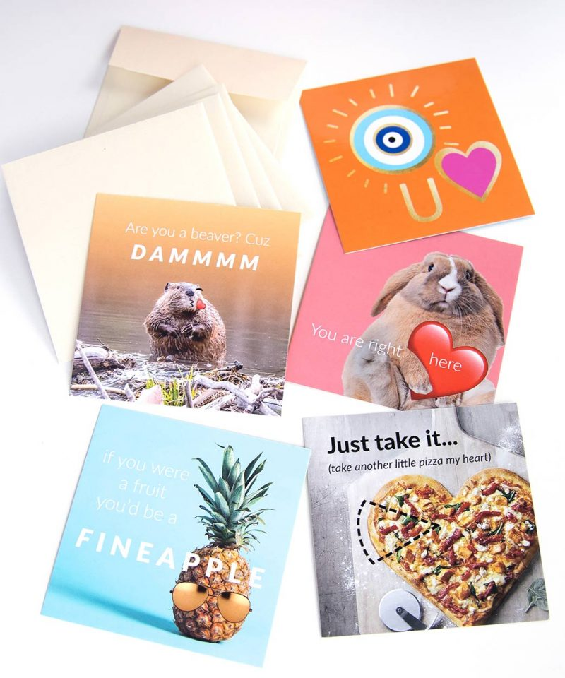 Valentine's Cards – Set of 5