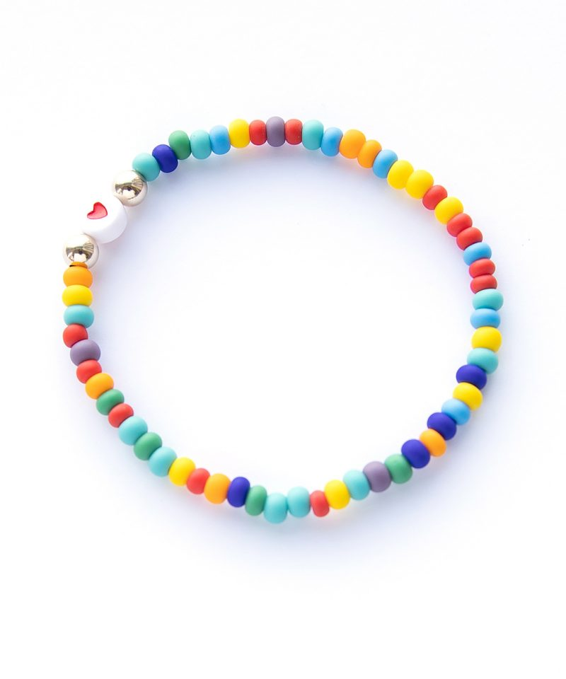 Name Game Bracelet – Color Crush Frosted Rainbow