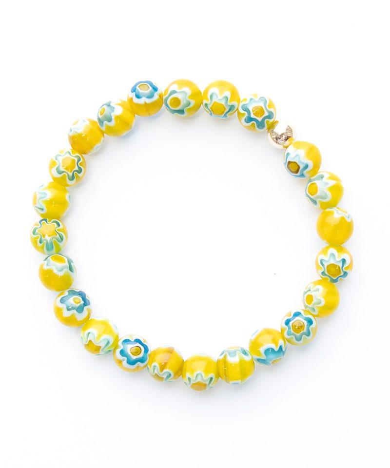 Flower Power Bracelet 8mm – Yellow