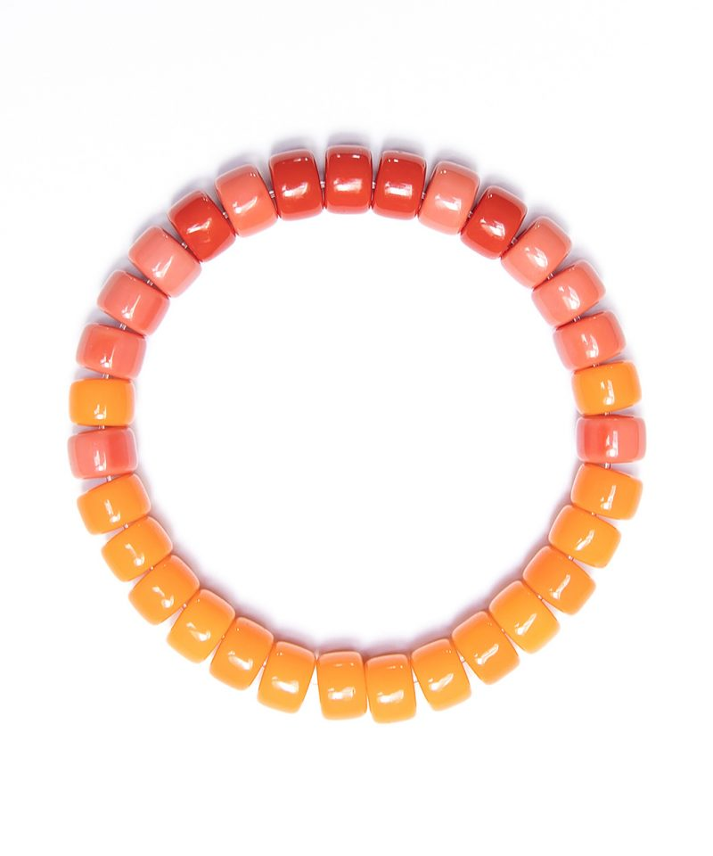 Rolo Bracelet – Orange Ombre
