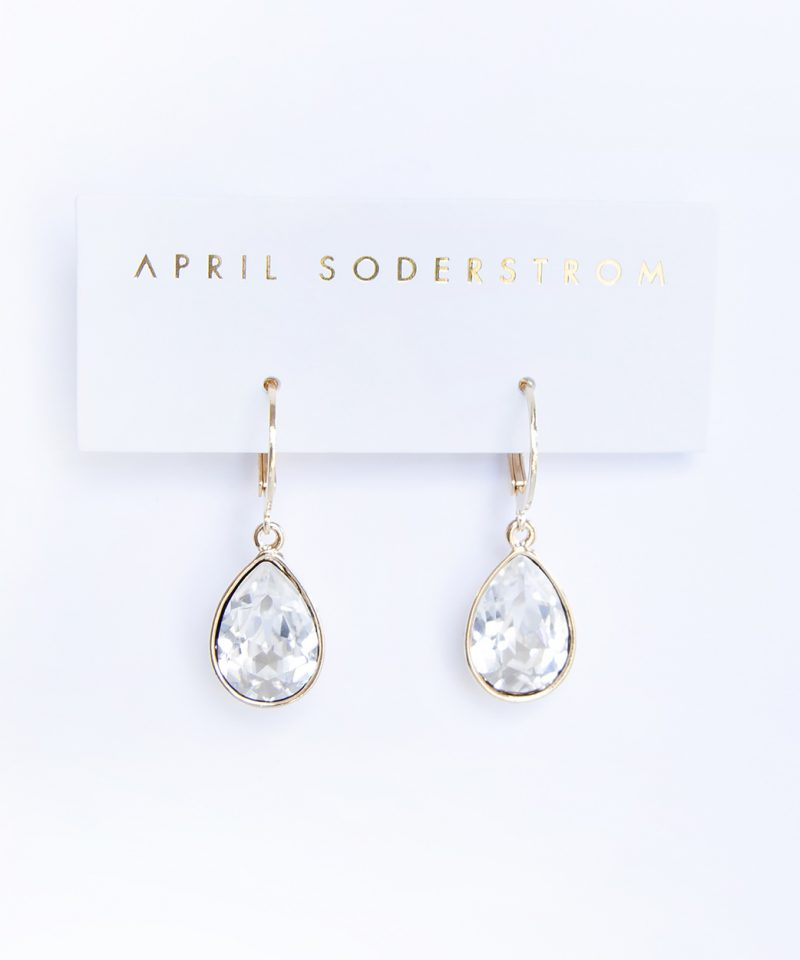 Swarovski Drop Earrings – Crystal Clear
