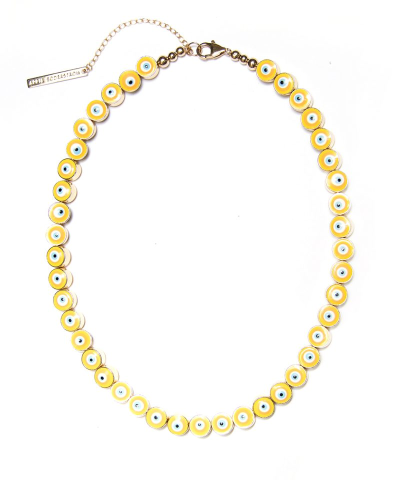 All Eyes On You Necklace – Canary Yellow