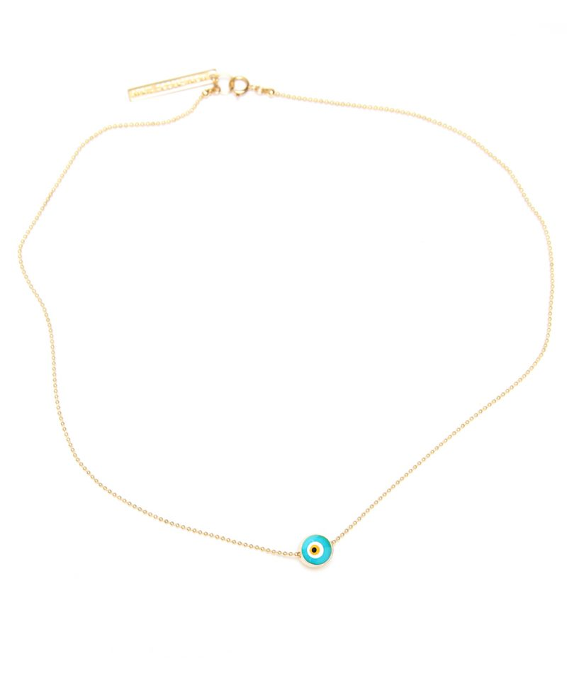 Evil Eye Necklace – Gold Bead Chain