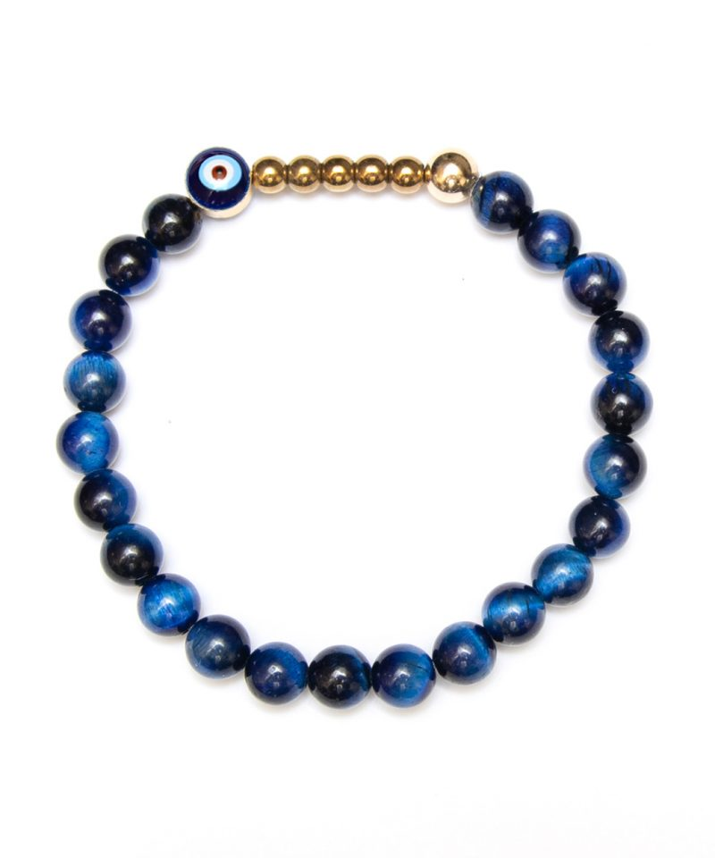 Ojo Bracelet Blue Tiger Eye – Gold