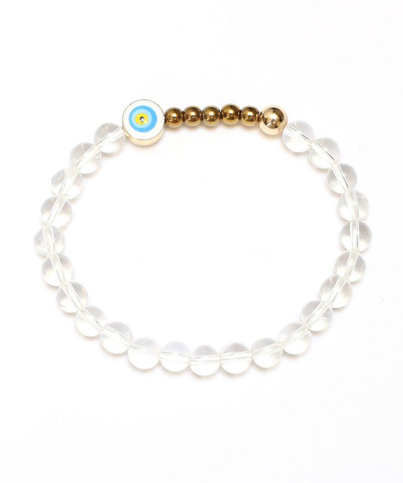 Ojo Bracelet Clear Quartz – Gold