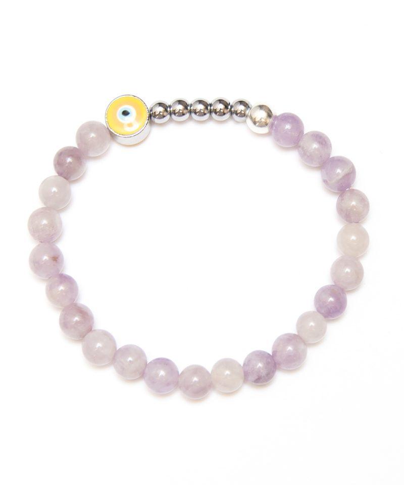 Ojo Bracelet Lavender Jade – Silver