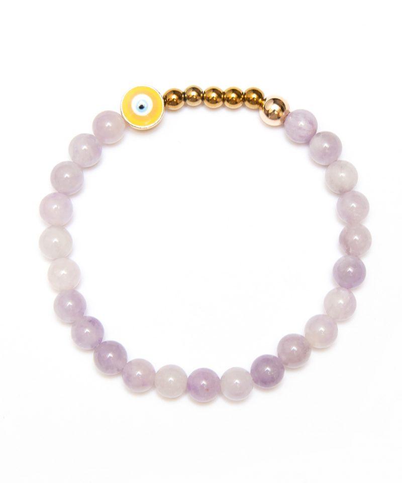 Ojo Bracelet Lavender Jade – Gold