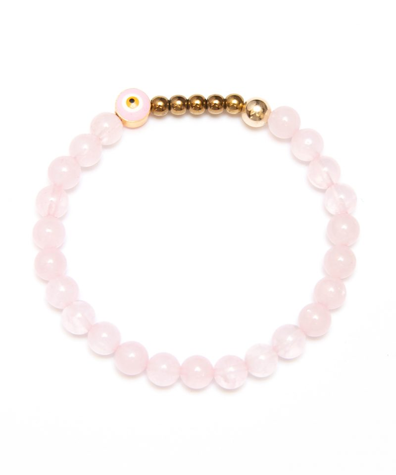 Ojo Bracelet Rose Quartz – Gold