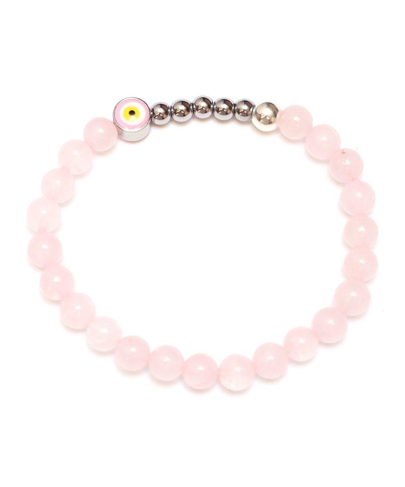 Ojo Bracelet Rose Quartz – Silver