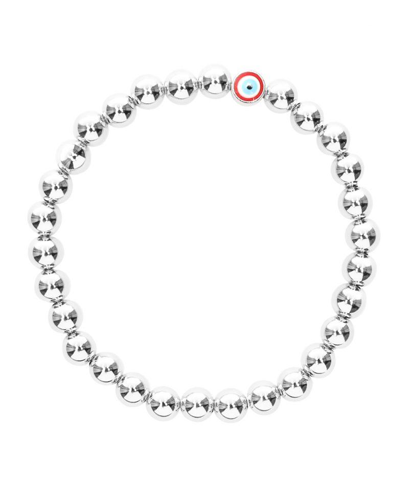 Silver Evil Eye Bracelet 6mm