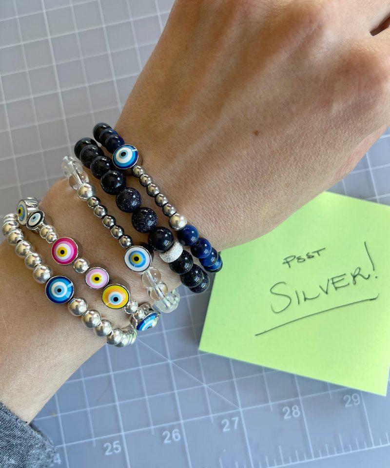 Ojo Bracelet Clear Quartz – Silver